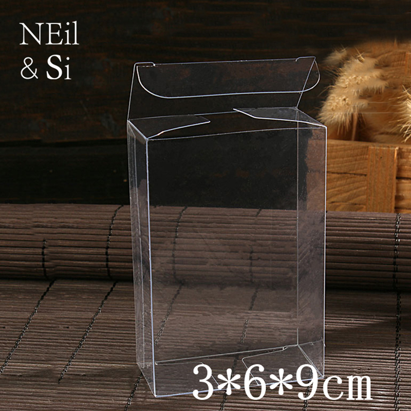 Plastic Gift Box Clear Wedding Candy Favor Transparent Manual Craft Packaging Boxes Free Shipping