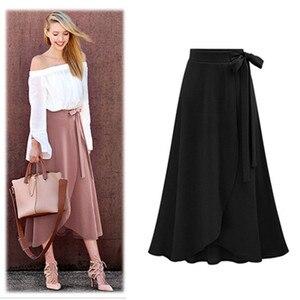Image 4 - Saias das mulheres faldas M 6XL mais tamanho maxi saia faldas mujer moda 2018 novas saias irregulares das senhoras do escritório usam saias
