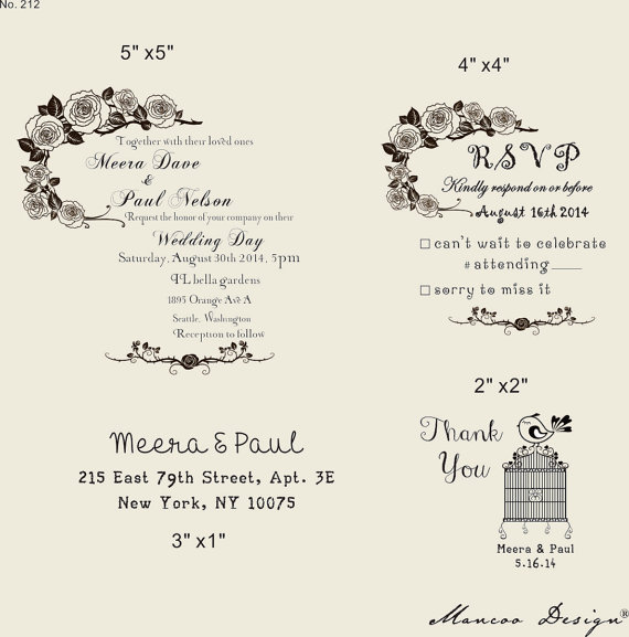 Diy Rubber Stamp Wedding Invitations And Save The Dates Via Oh So Beautiful Paper 4