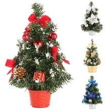 2020 Xmas New Year Mini Artificial Christmas Tree Ornaments Desktop Gifts Decoration Small Simulation Plant 20/30/40cm
