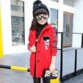 7 год девушки шерстяное пальто зима 2017 детская clothing зимой шерстяные куртки длинные шерстяные пальто И Пиджаки 9 год