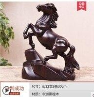 Достижение немедленного победы ebony резьба по дереву лошадь животные знак Хуанхуа груша одноцветное хризантемы груша успеха статуя