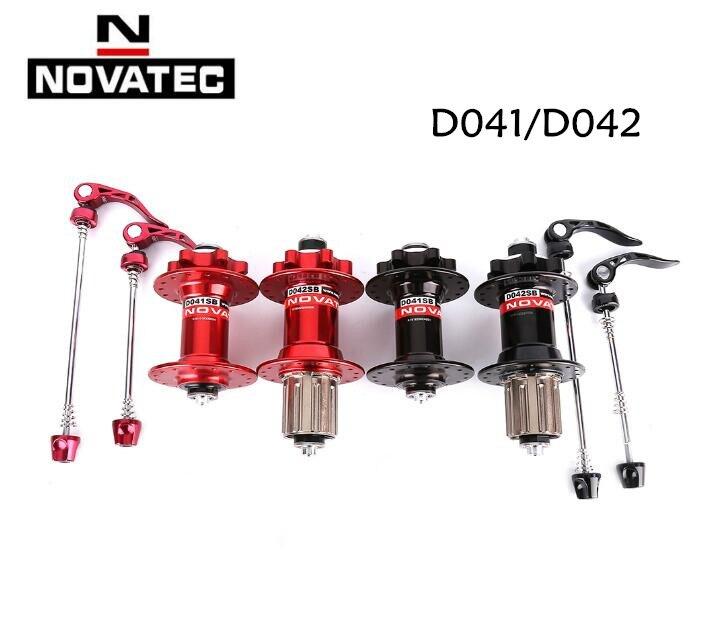 D'origine Novatec D041SB D042SB frein à carte à disque vtt VTT moyeu roulement moyeux de vélo 28 32 36 trous rouge noir 8/9/10/11 s