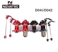 Original Novatec D041SB D042SB disc card brake MTB mountain bike hub bearing bicycle hubs 28 32 36 Holes red black 8/9/10/11s
