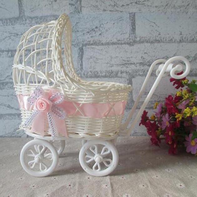 25x11x23cm Wicker Storage Universal Pram Basket Baby Shower Party Gift Present Organizer Decor Beautiful Design
