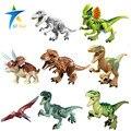 8 pçs/lote Dinossauros do Jurássico Parque Mundo Mini Figura filme Kid Baby Toy Building Blocks Define Modelo Brinquedos Minifigures Tijolo presente