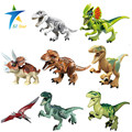 8 unids/lote Dinosaurios de Jurassic Park Mundo Mini Figura película Kid Bebé de Juguete Minifigures Bloques Huecos de los Juguetes Modelo de Ladrillo regalo