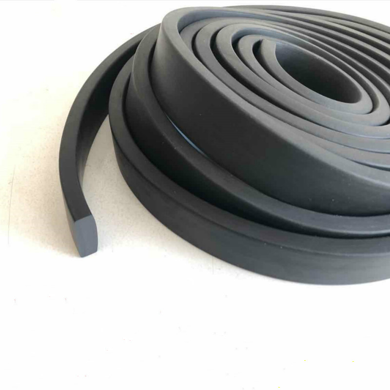 Self adhesive extruded flat epdm rubber foam cabinet door window seal strip