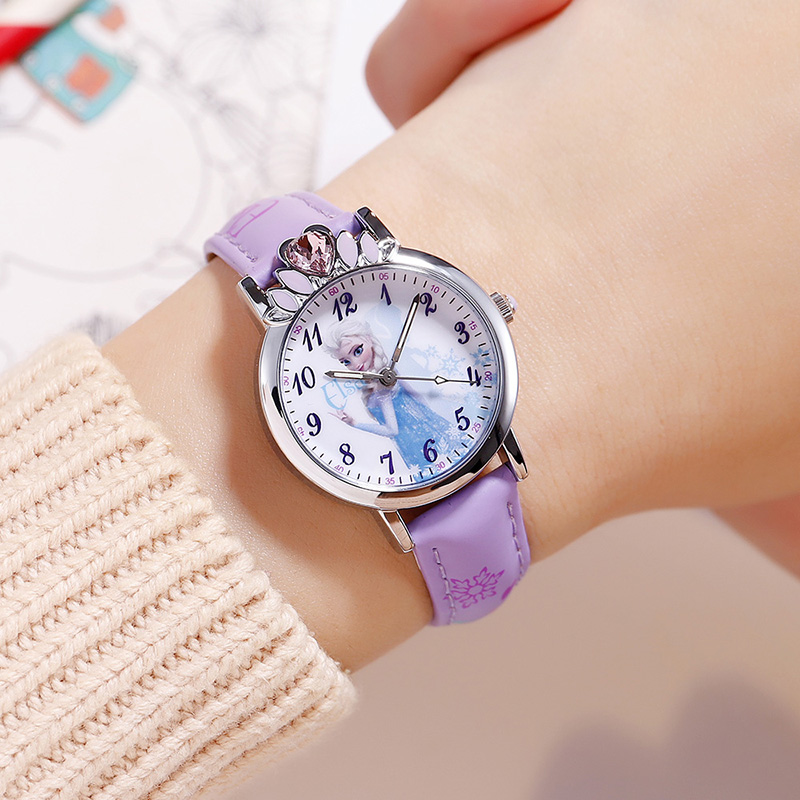 Children's Watches Disney Fashion Kids Watches For Girls Frozen Princess Luxury Quartz Wristwatches Sophia Princess Girl Child Casual Watches