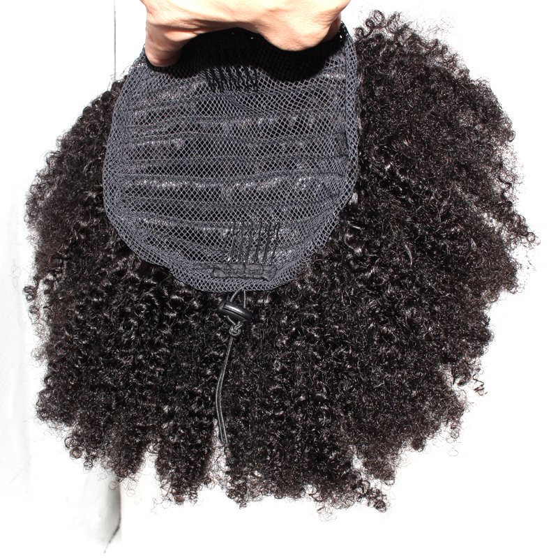 DLME Clip In High Ponytail Extensions Kinky Curly Natural Black Color 10-18inch 130 Density For Women Free Delivery Synthetic