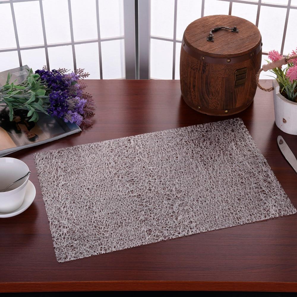 30*45 cm EVA Placemat Heat Insulation Table Mat Hotel Cutlery Mat High-Grade Transparent Crystal Slip-Resistant Plastic Pad