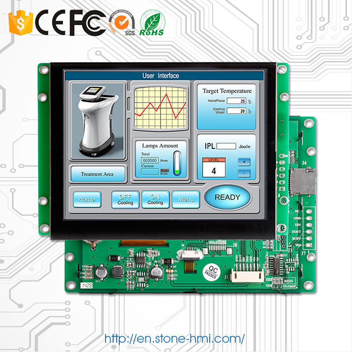 10 Uart Interface Lcd Touch Screen With Controller + Software Support Arduino/ Pic/ Any Mcu