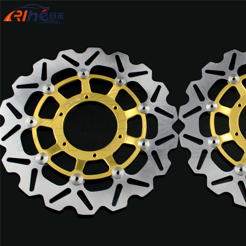 motorcycle accessories Aluminum alloy inner ring&Stainless steel outer ring front brake disc rotos For Honda CBR1000RR 2004-2005 cyt alloy steel motorcycle engine valve for honda cg200 dark grey pair