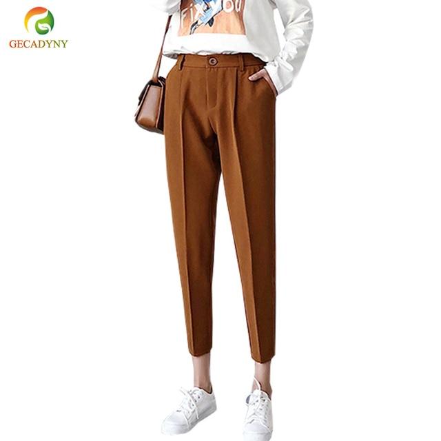 Plus Size Harem Pants Women New Hot Fashion Women Fashion Ankle-Length Trousers Female Classic High Elastic Waist OL Pants S-3XL