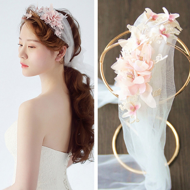 Floral Guirlande Femmes Cheveux De Voile De Mariage Accessoires De Mariée  Couronne De Fleurs Enfants Partie