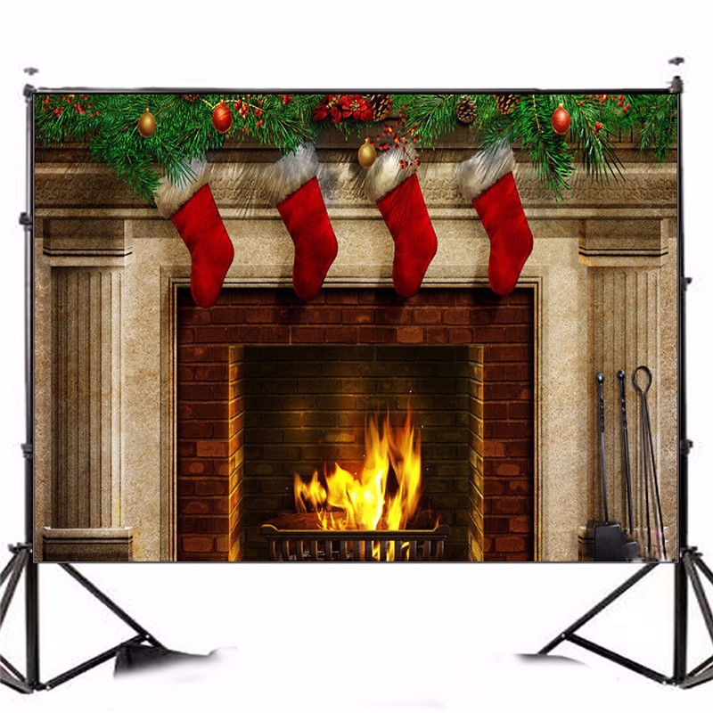 7x5FT Photography Background Vinyl Christmas Theme Stockings Gift photographic Backdrop for Studio Photo Prop cloth 2.1m x 1.5m shengyongbao 300cm 200cm vinyl custom photography backdrops brick wall theme photo studio props photography background brw 12