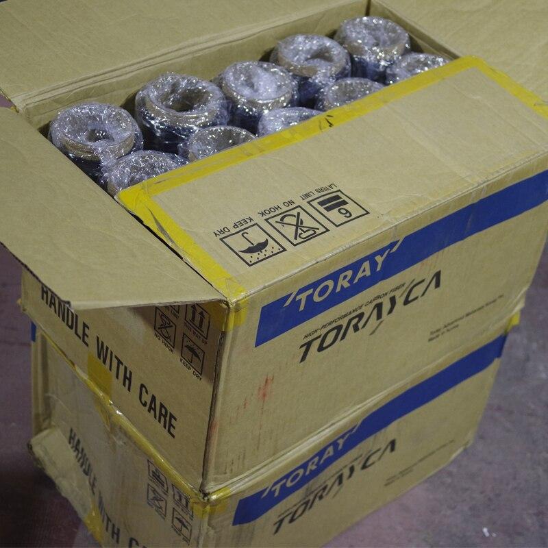 Toray T700SC 12000-50C 12 K 1 KG 1250 M z włókna węglowego elektryczne ciągłe przędza włókiennicza taśma z gwintem o wysokiej wytrzymałości materiał do naprawy