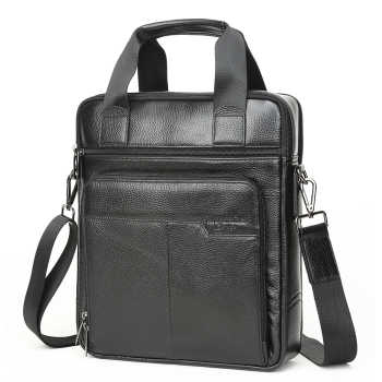 MEIGARDASS Genuine Leather Business Briefcase Men Office Handbags Laptop Computer Bag Male Messenger Shoulder Crossbody Bags