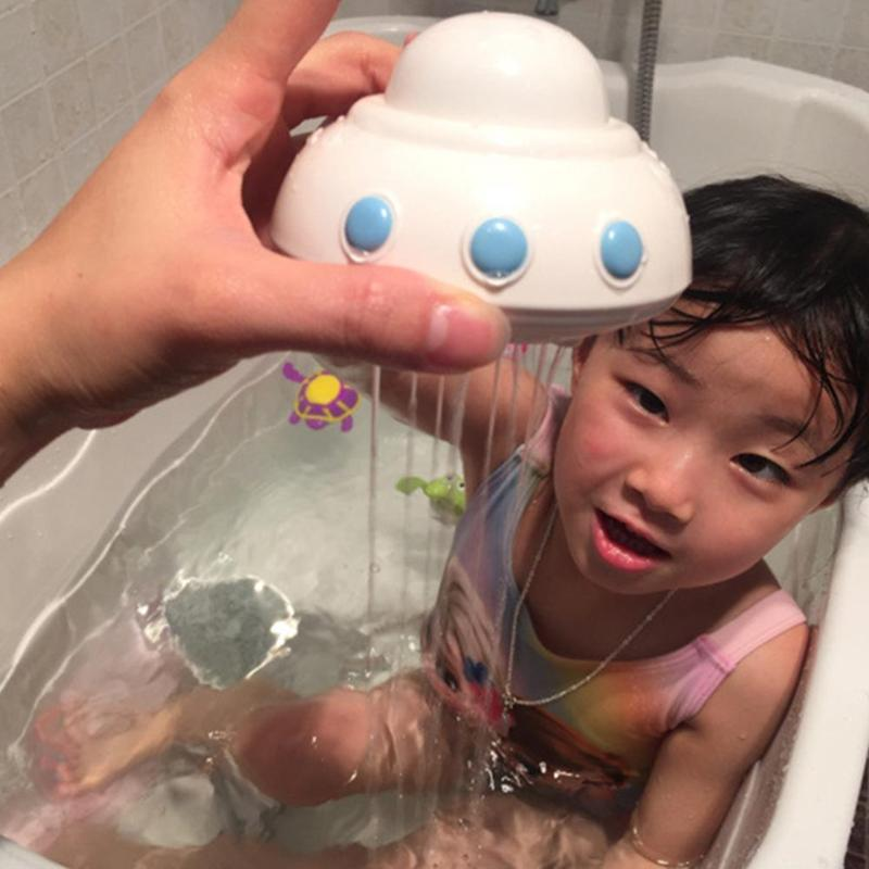 UFO Baby Bath Toy Bathroom Play Water Spraying Shower Floating Beach Toys Baby Bath Toys Water Game Interactive Toys