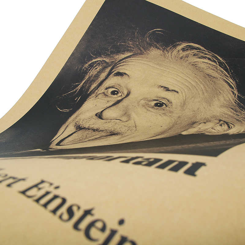 Наклейка на стену, воображение Эйнштейна более важно, чем ретро-плакаты, крафт обои, винтажный постер фильма