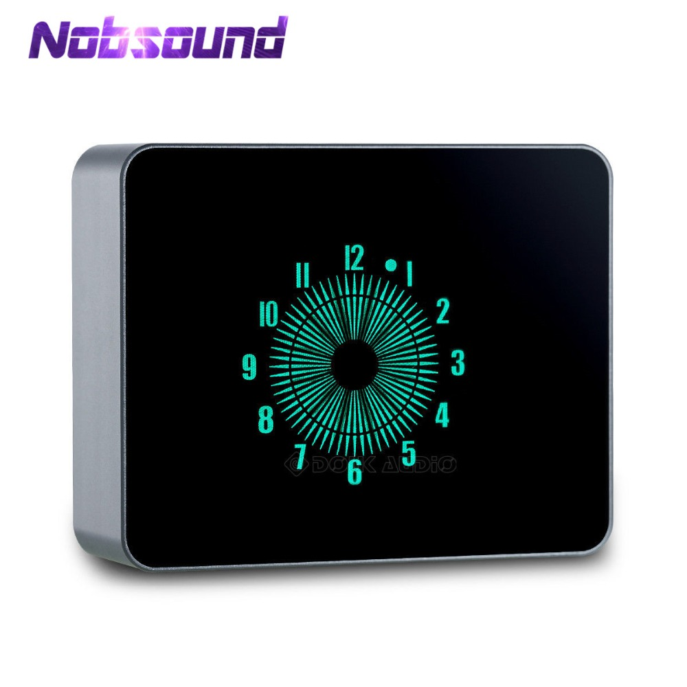 Nobsound Hi-Fi Mini VFD Clock Pointer Clock NIXIE TUBE ERA Aluminum Case USB Powered Analog-style