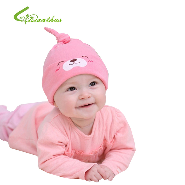 10pcs/ lot 2017 Hot Selling!!! Free shipping Child Sleep Hat Newborn Cap The Baby Cute Kit Lens Cap Baby Lovely Cotton Cap