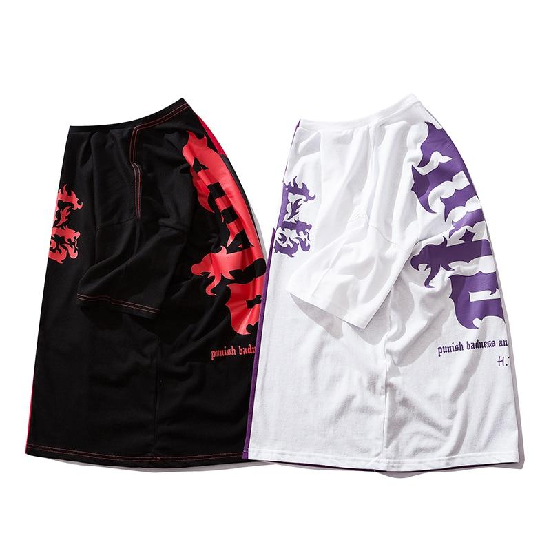 Bebovizi Men Japan Style Harajuku T Shirt Hip Hop Color Block Patchwork T Shirts Streetwear Oversize Tshirt Cotton Tops Tees in T Shirts from Men 39 s Clothing