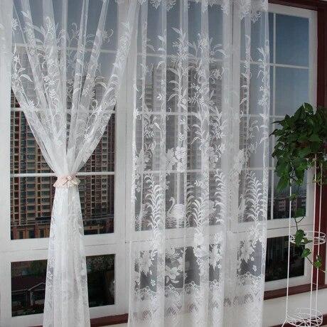 rideau en voile textile pour maison et jardin ouverture gauche et droite dentelle vente complete 300x240cm taille personnalisable nouveau