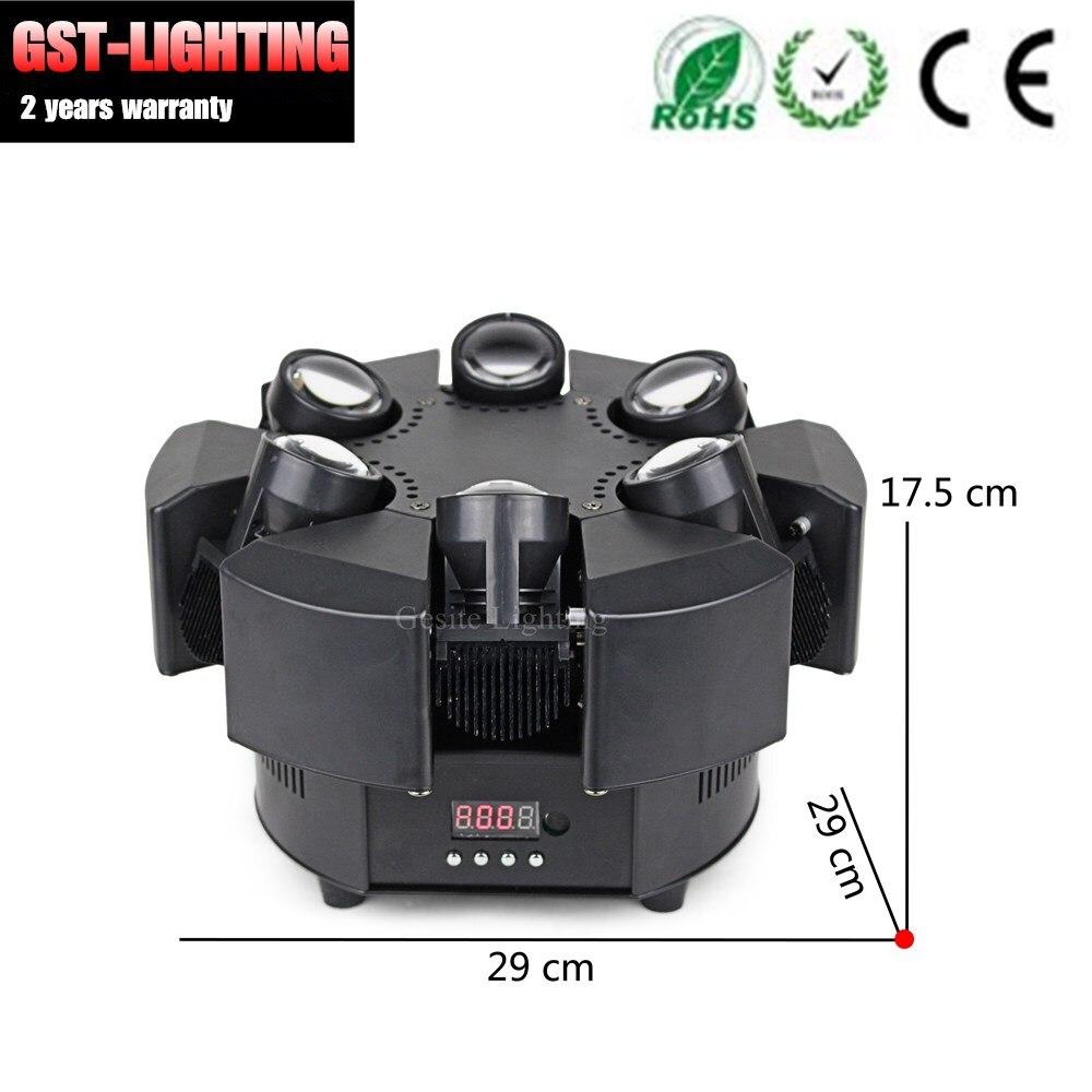 2 stks/partij RGB Enkele Choive Kleur Bloemen 6 Heads Smart Beam Moving Head Licht - 4
