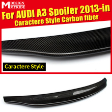 For Audi A3 A3Q High-quality Carbon Rear Spoiler Belgium Style Coupe Carbon Fiber Rear Spoiler Rear Trunk Wing car styling 2013+ a3 rear trunk spoiler wing lip small aev style carbon fiber for a3 a3q auto air rear trunk spoiler tail wing car styling 2013 in