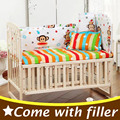 5PCS Set Newborn Baby Bedding Set For Girl Boy Baby Crib Bedding Set Baby Cot Sets Cartoon Baby Bed Bumper CP01