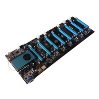 BTC IC6S Mining Motherboard 8 Graphics Cards Slots DDR4 VGA USB2.0 SATA3.0 1000Mbps LAN Mainboard Support SDD Wifi
