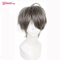 Cheap-10inch-25CM-Anime-Haikyuu-Cosplay-Synthetic-Straight-Grey-Short-Wigs-Men-Free-Shipping
