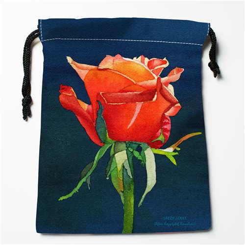 1 Dutiful Custom Printing Orange-rose Drawstring Shopping Bags Travel Storage Pouch Swim Hiking Toy Bag Unisex Multi Size18-12-05-103 Easy To Lubricate