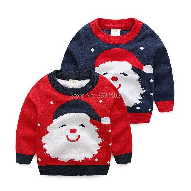 Kersttrui Kids.Kerst Trui Kids O Hals Kerstman Kinderen Trui Patroon Lange Mouw
