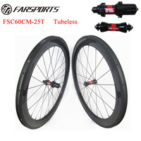 2015 Hotsale Carbon Road Bike Wheels 60mm Deep With 25mm Wide Tubeless Compatible U Shape Clincher