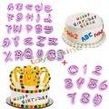 Frete grátis Alfabeto Número carta Impress Definir biscoito embosser selo bolo cortador fondant Mold DIY Hotsale