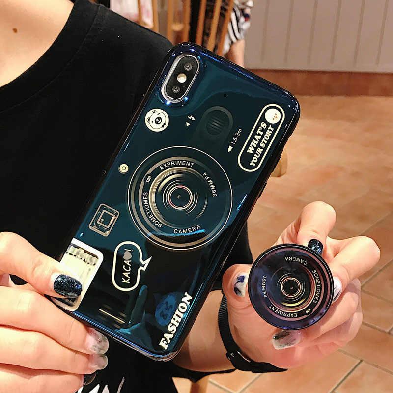 아수스 zenfone 맥스 프로 m2 zb631kl zb633kl m1 zb601kl 카메라 블루 레이 케이스 소프트 imd 빈티지 커버 스탠드 홀더