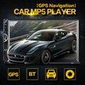 8001 2 Din 7 Дюймов Автомобиля MP5 Плеер Bluetooth HD Сенсорный экран С GPS Навигация Камера Заднего вида Авто FM Радио Авторадио IOS