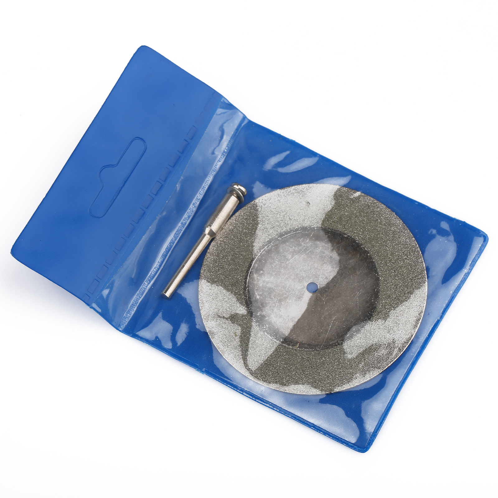 DRELD 1pcs 60mm Mini Diamond Saw Blade Diamond Cutting Discs With 1pc Connecting 3mm Shank For Dremel Drill Fit Rotary Tool