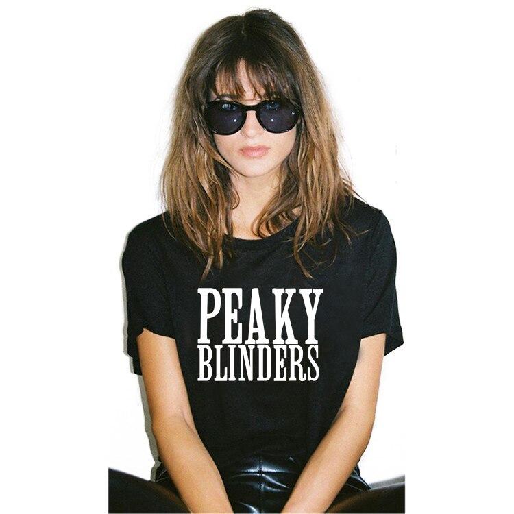 100% Cotton peaky blinders t shirt women tshirt Black t-shirt woman top punk t-shirts harajuku 2018 tops female clothes