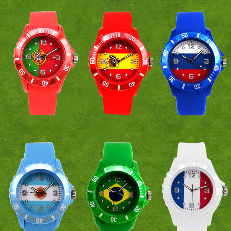 Logo Flag Sport Men Watch Football Game Unisex Fan Watches Women Soccer Club Party Wrist Brazil Argentina Germany Portugal Spain germany flag new 100