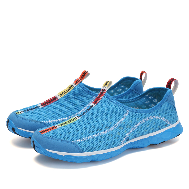 2a968b524ea03 Detail Feedback Questions about Aqua Shoes Men 2018 Summer Breathable Mesh  Beach Shoes Woman Adult Wading Sandals Diving Socks Upstream Shoes Tenis ...