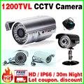 """Real 800/1200TVL 1/3 """"cmos de Vigilância de Segurança de Vídeo À Prova D' Água IP66 Ao Ar Livre Hd Medidor Infravermelho Câmera de Cctv IR-CUT Noite visão"""
