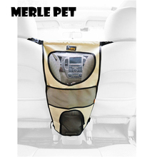 MERLE PET Car Barrier Durable Waterproof Oxford Cloth With Air Conditioner Vent Front Seat Net Back Seat Mesh See Through E07001