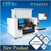 Qihe 4 Heds 6 Cameras Desktop Semi automatic LED Assembly SMD Pick and Place Machine TVM925 Chip Mounter