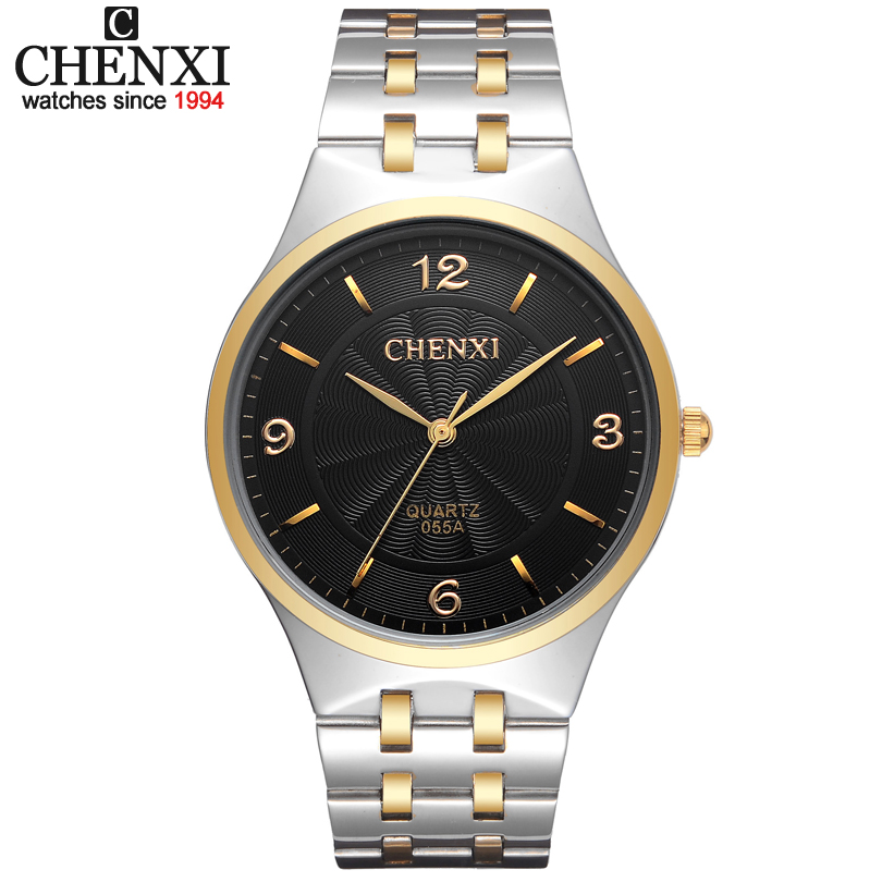 New CHENXI Original Brand Mens Watch Stainless Steel Relojes Hours Clock Men Casual Lovers Quartz Watch Male Female Wristwatch