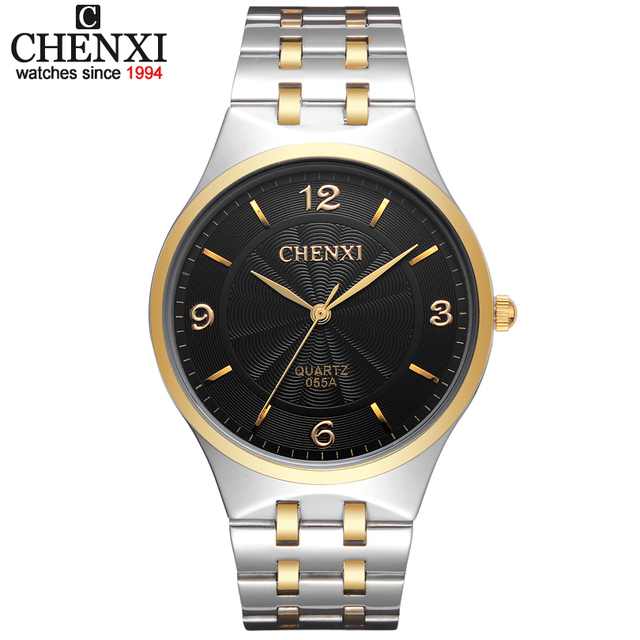 New CHENXI Original Brand Men's Watch Stainless Steel Relojes Hours Clock Men Ca