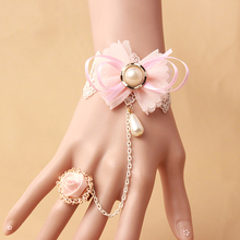 New Arrival handmade Fashion pink lace jewelry bracelet wrist accessories for women GS-163