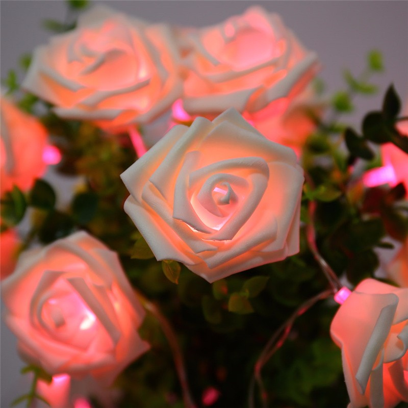20 LED Novelty Rose Flower Fairy Strin (5)